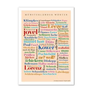 Das Poster mit den Wörtern aus dem Münsterland.