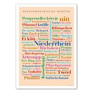 Das Poster mit den schönsten Wörtern vom Niederrhein.
