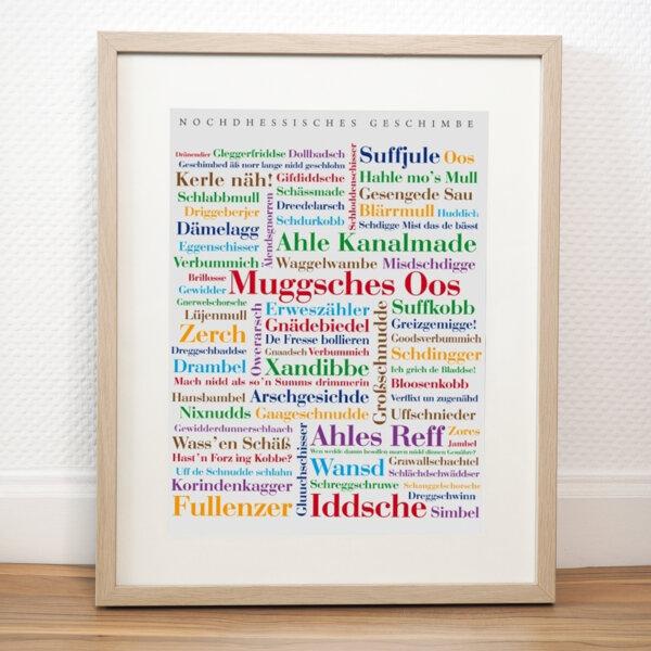 Poster Nordhessische Schimpfwörter.