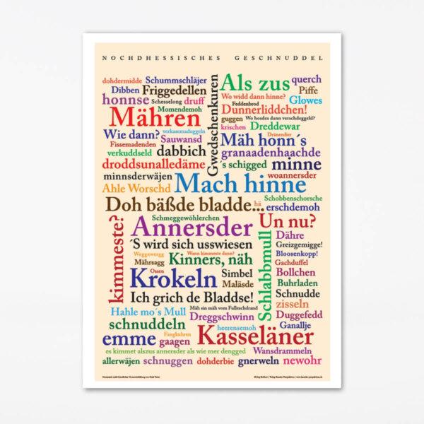 Poster Nordhessische Wörter.