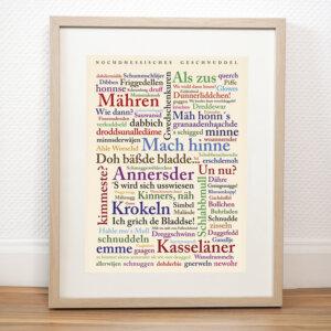 Poster mit den Wörtern aus Nordhessen.
