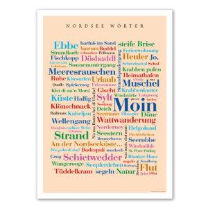 Das Poster mit den Wörtern der Nordsee.