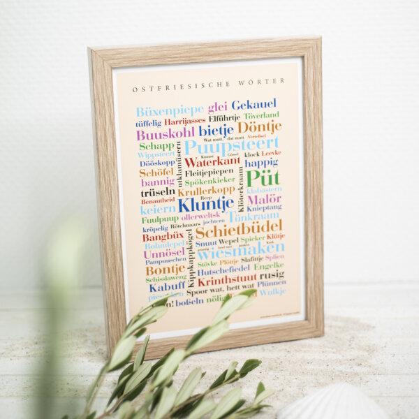 Das Poster mit den Ostfriesland Wörtern.