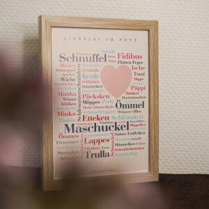 Poster Kosenamen aus dem Ruhrgebiet.