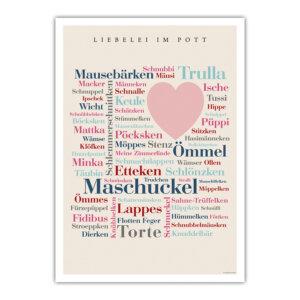 Das Poster mit den schönsten Kosewörtern des Ruhrpotts.
