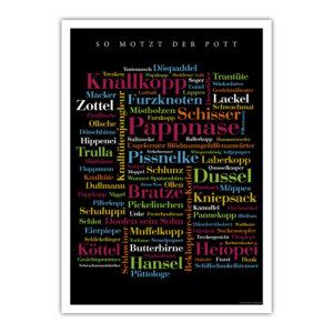 Das Poster mit den besten Schimpfwörtern aus dem Pott