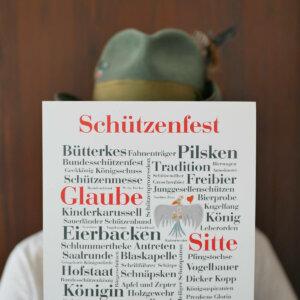 Poster mit vielen Schützenfest-Wörtern