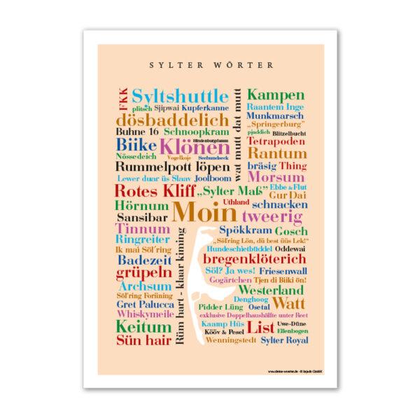 Poster Sylter Wörter und Redewendungen.