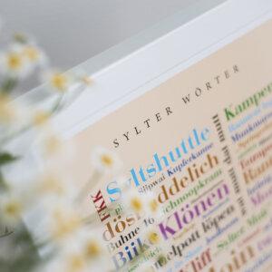 Das Poster mit den Sylter Begriffen der Insel.