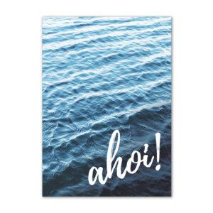 ahoi Postkarte für liebevolle Worte.