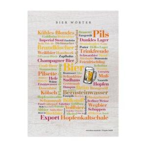 Postkarte Bier Wörter (DIN A6)