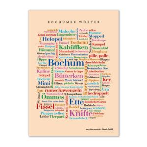Postkarte Bochumer Wörter zum Verschicken.