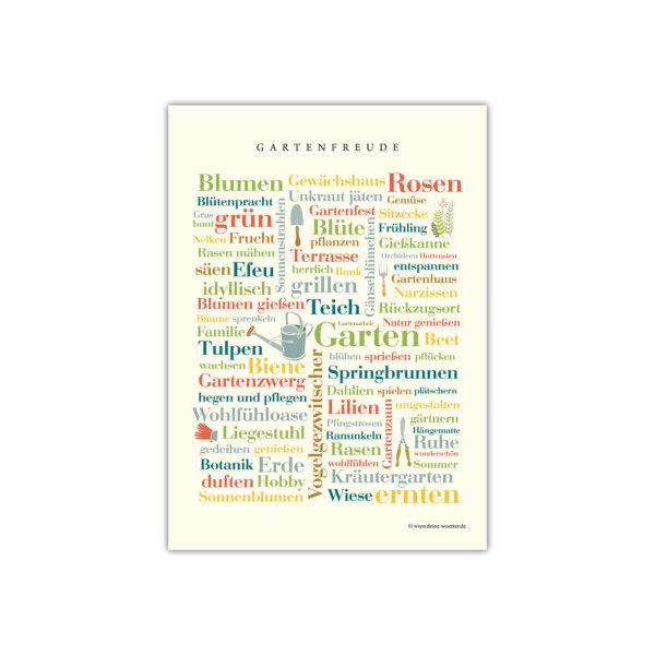 Die Postkarte mit den schönsten Gartenwörtern.