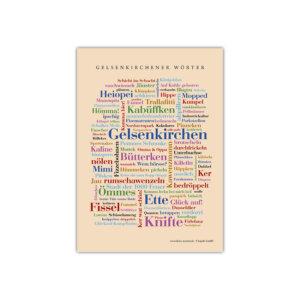 Die Postkarte mit den schönsten Wörtern Gelsenkirchens.