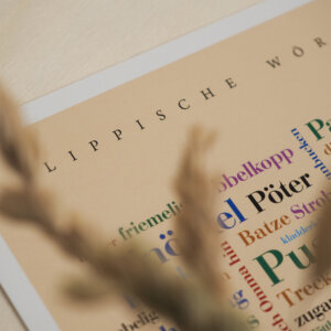 Postkarte Lippischer Dialekt.