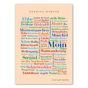 Die Postkarte mit den schönsten Wörtern der Nordsee.