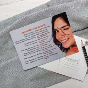 """Die Postkarte mit dem Motiv """"Sauerländer Klüsensprache""""."""
