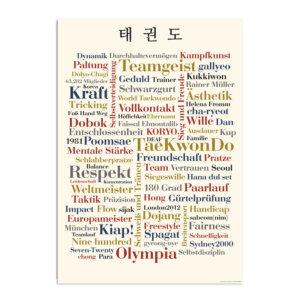 Mit der Postkarte Taekwondo kannst du jedem zeigen, für welche Sportart dein Herz schlägt.