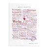 Postkarte Wein Wörter (DIN A6)