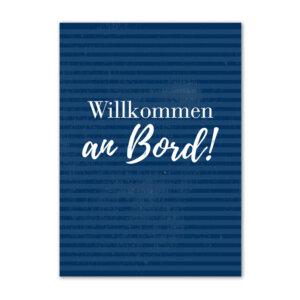 Postkarte mit dem Motiv Willkommen an Bord.
