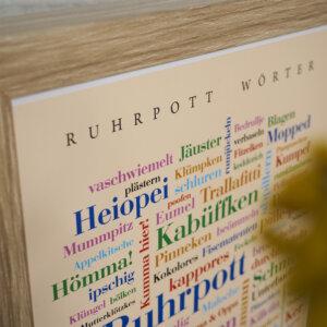 Das Poster mit Ruhrpott Wörtern im Detail.