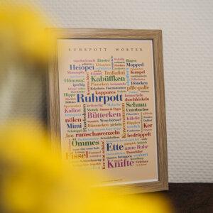 Das Ruhrpott Wörter Poster ist dekorativ.