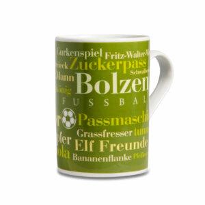Die Fußball Wörter Tasse für echte Fans.