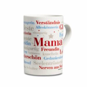 Die Tasse mit den Mama Wörtern.