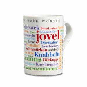 Der Kaffeebecher Münsterländer Wörter ist spülmaschinenfest.
