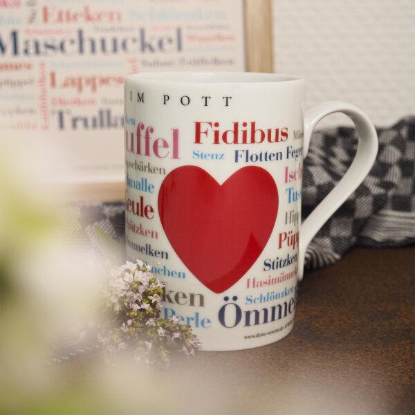 Die Tasse mit den schönsten Kosenamen aus dem Ruhrpott.
