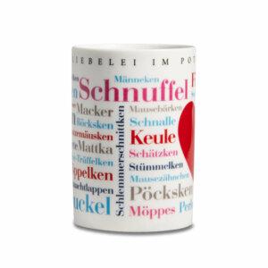 Tasse / Kaffeebecher Ruhrpott Kosewörter frontal.
