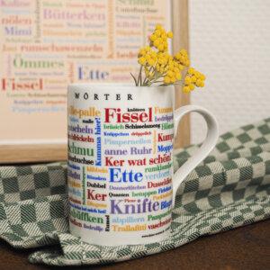 Die Tasse mit den schönen Ruhrpott Wörtern.