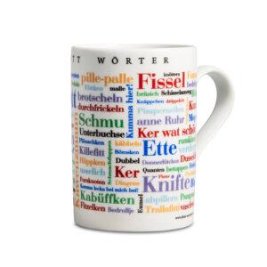 Kaffeebecher Ruhrpott Wörter rechte Seite.